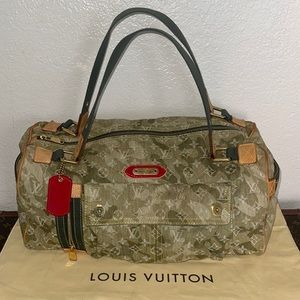 Authentic Louis Vuitton denim monogramouflage bag